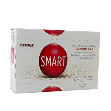 Detour SMART Whole Grain Oatmeal Bar, Cranberry Flax, 9 ea
