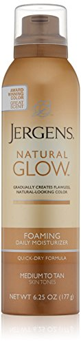 Jergens Natural Glow Foaming Daily Moisturizer Med/Tan