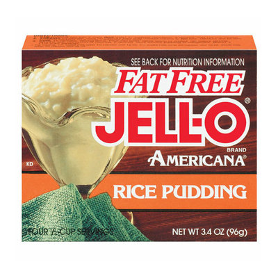 Jell-O : Americana Rice Fat Free Pudding