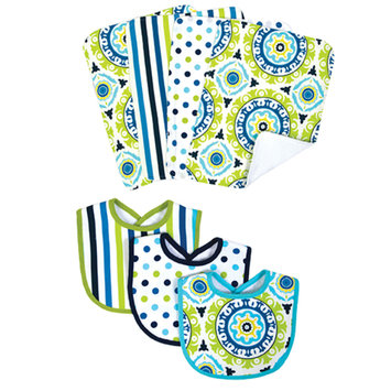Test WAVERLY® Solar Flair Bib & Burp Cloth Set