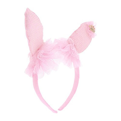Uxcell Polyester Rabbit Ear Detail Coated Girl Hair Hoop Headband