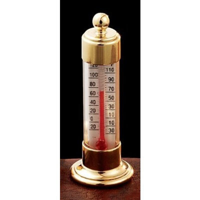 WEEMS and PLATH/CONANT BRASS Conant Custom Brass Model T-19 Vermont Natural Brass Desk Thermometer