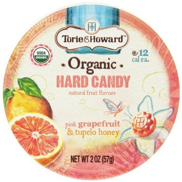 Torie and Howard Organic Hard Candy Tin, Pink Grapefruit and Tupelo Honey, 2 Ounce