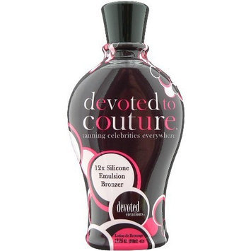2 BOTTLES OF Devoted to Couture Tanning Lotion by Devoted Creations - NEW 12.25 oz bottle