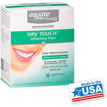 Equate Beauty 5 Day Whitening System Dry Touch Whitening Trays, 10 count