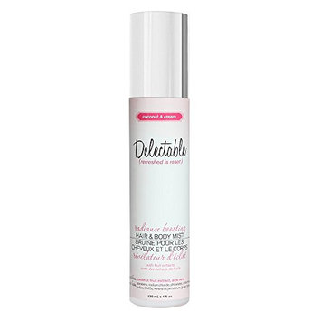 Delectable by Cake Beauty Radiance Boosting Coconut & Cream Hair & Body Mist
