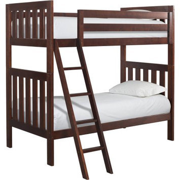 Canwood Furniture Lakecrest Twin Over Twin Bunk Bed Finish: Cherry