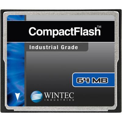 Wintec Industrial Grade SLC NAND 64MB CompactFlash Card, Black