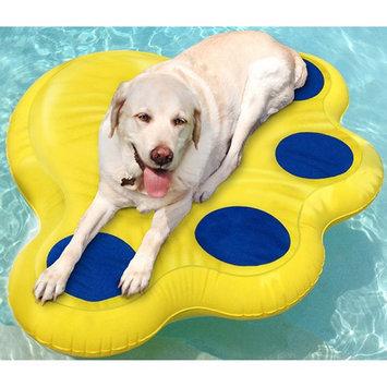 Paws Aboard Doggy Lazy Raft Yellow Large Yellow 50 x 39