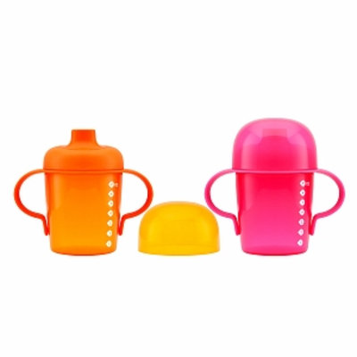 Boon SIP Sippy Soft Spout, Pink/Orange, 2 ea