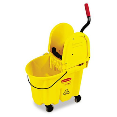 Rubbermaid Wavebrake 35-Quart Bucket/Wringer Combinations Yellow