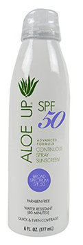 Aloe Up Sun and Skin Care Products White Collection SPF 50 Continuous Spray Sunscreen