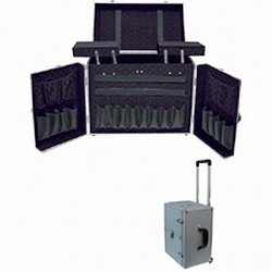 City Lights Lockable Aluminum Tool Case on Wheels