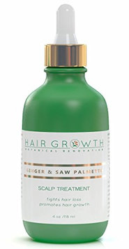 Hair Growth Botanical Renovation Anti-hair Loss Extra Strong Scalp Treatment 4 0z / 120 Ml Ginger and Saw Palmetto