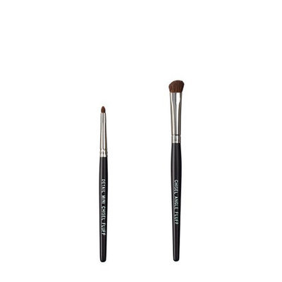 VEGAN LOVE The Chisel Collection Make Up Brush Set (Chisel Detail Mini Fluff Chisel Angle Fluff)