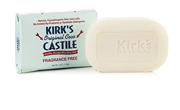 Kirk's Natural Original Coco Castile Soap Fragrance Free