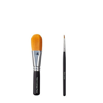 ON&OFF Total Coverage Face and Thin Liner Makeup Brush
