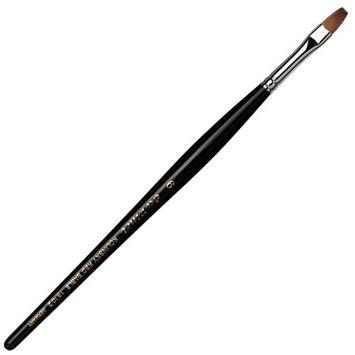 Da Vinci Series 18102 Nail Brush Flat Kolinsky Red Sable with Acetone Resistant Handle