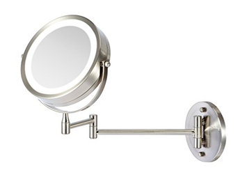 Ovente Battery Operated LED Lighted Wall Mount Vanity Makeup Mirror