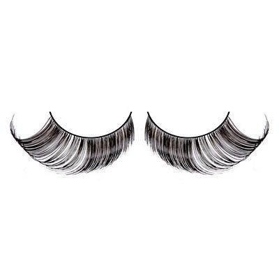 Baci Glamour  Style No.569 Black Feather Eyelashes with Adhesive Included