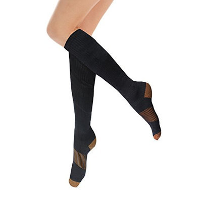 HomeTek USA Pro Recovery Compression Dress Crew Socks