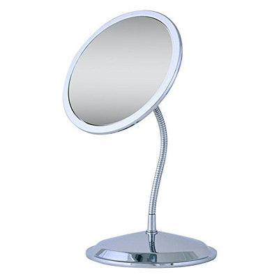 Ovente MLI26C Gooseneck Makeup Travel Mirror