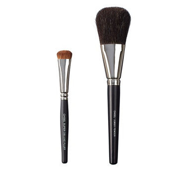 VEGAN LOVE The Chisel Collection Make Up Brush Set (Super Deluxe Fluff Chisel Jumbo Powder)