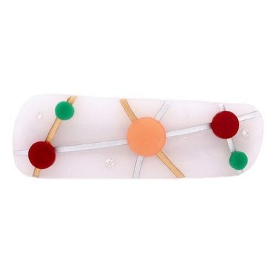 Caravan Spirit Of Carnival With Hand Painting And Engraving Sprinkled With Rhinestone On Automatic Barrette