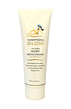 Hamptons Glow Daily Anti-Aging Body Moisturizer with Bronzer - Gorgeous 'Kiss' of Bronze