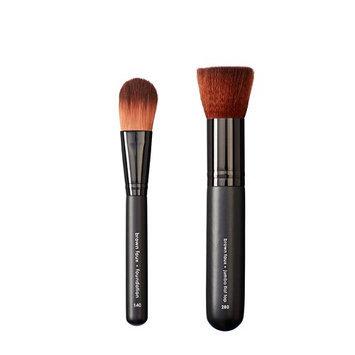 Makeover Vegan Love Foundation Brush and Jumbo Flat Top Brush