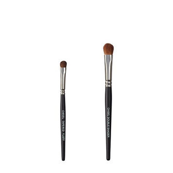 VEGAN LOVE The Chisel Collection Make Up Brush Set (Chisel Tapered Fluff Chisel Double Shader)