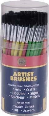 MERIT PRO 00011 Pony Hair Brush Cylinder with 144 Artist Brushes