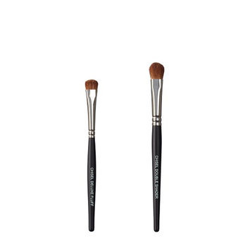 VEGAN LOVE The Chisel Collection Make Up Brush Set (Chisel Deluxe Fluff Chisel Double Shader)