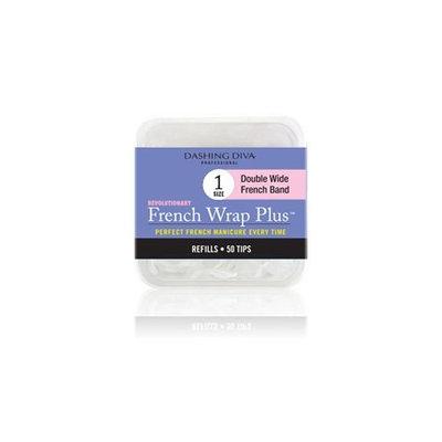 Dashing Diva French Wrap Plus Thick Nail Strips White
