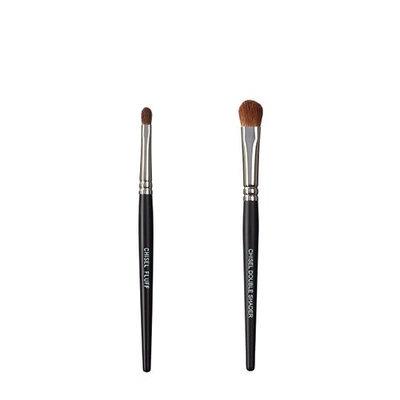 VEGAN LOVE The Chisel Collection Make Up Brush Set (Chisel Fluff Chisel Double Shader)