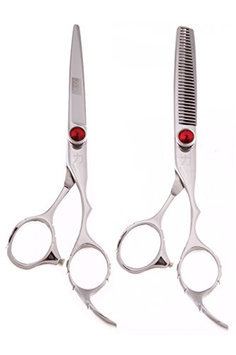 ShearsDirect Japanese Stainless Steel Scissors Cutting Shear and 30 Tooth Thinner