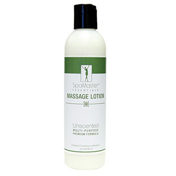 Master Massage Spamaster Essentials Unscented Massage Lotion Therapeutic Premium Formula 8 Oz