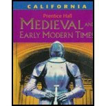Prentice Hall Medievel And Early Modern Times, by Hart, CALIFORNIA E