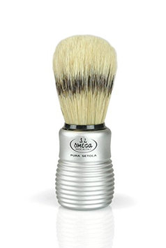 Pre de Provence Men's Boar Bristle Shave Brush with Aluminum Handle for Quickl Lather