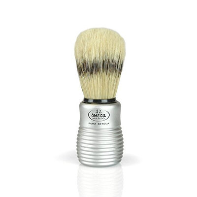 Pre de Provence Men's Boar Bristle Shave Brush with Aluminum Handle for Quickl Lather