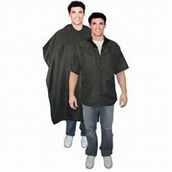 Scalpmaster Barber Jacket And Cutting Cape Set Black