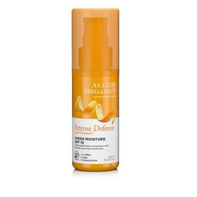 Avalon Organics Intense Defense With Vitamin C Sheer Moisture Spf 10