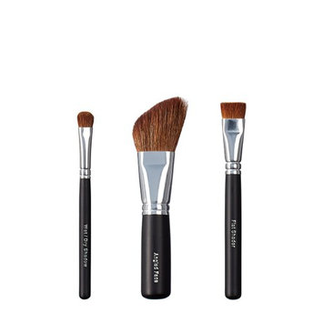 VEGAN LOVE Wet/Dry Shadow Angled Face Brush Trio
