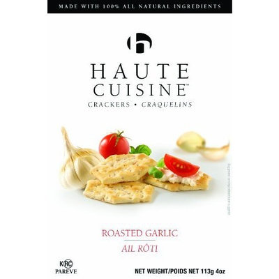 Haute Cuisine Crackers, Roasted Garlic, 4-Ounce Boxes (Pack of 6)