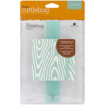 Provo Craft Cuttlebug Embossing Folder Set, Woodgrain