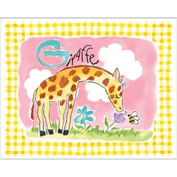 Art4Kids Art 4 Kids Gingham Giraffe Canvas Art
