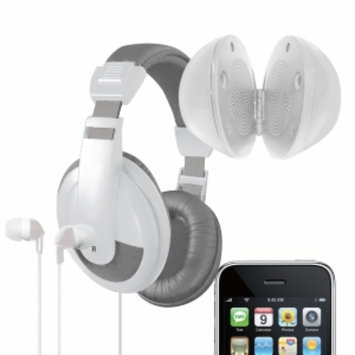 Vibe Sound 3 In 1 Ultimate Audio Kit With Earbuds, Headphones And Speaker, Gray, 1 ea