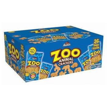 Austin® Zoo Animal Crackers, Original, 2 oz Pack, 36 Packs/Box