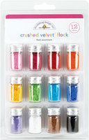 Doodlebug Design CVF1798 Crushed Velvet Flock Assortment 1.25 Gram Bottles 12/Pkg