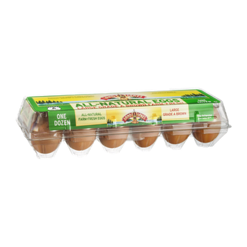 Land O'Lakes All-Natural Eggs Large Grade A Brown - 12 CT